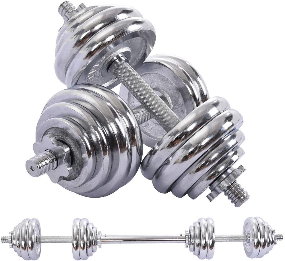 GMOON Adjustable Dumbbells /& Plating Dumbbell Set Fitness Equipment Combination 30kg//66lbs Strength Training,with Connector Options Convertible to Barbell,Dumbbells for Your Home