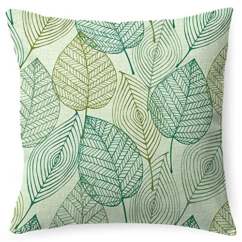 PullPritt Federa per cuscino in cotone e lino, con decorazione per il divano, per la casa, 45 x 45 cm