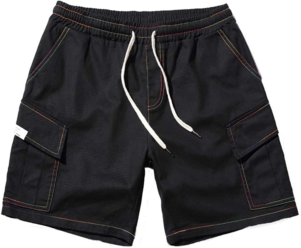 DIOMOR supreme Opening large release sale Mens 100% Cotton Outdoor Cargo Waist Shorts Elastic Casua