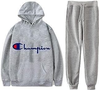 Men's 2 Pieces Hoodies Set Sweatsuits Casual Active Long Sleeves Tracksuit Sports Suit Jogger