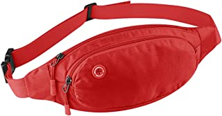 Sports Mobile Phone Pockets Multi-Function Running Bag Small Belt Bag Can Be Adjusted (Color : Red)