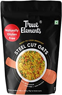 True Elements Steel-Cut Oats 1kg - Gluten Free Oats, Whole Grain Breakfast, Cereal Food, Oats for Weight Loss