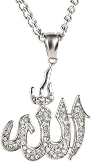 """.925 Argent sterling Musulman Allah Charme Pendentif 3//4/"""" Tall"""