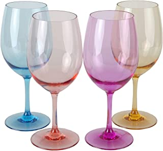 e1b8232dcf7 Lily's Home Unbreakable Acrylic Wine Glasses, Made of Shatterproof Tritan  Plastic and Ideal for Indoor