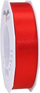 Prasent C.E, pattberg 25 mm 25 m de Cinta de Raso de Doble Cara, Rojo