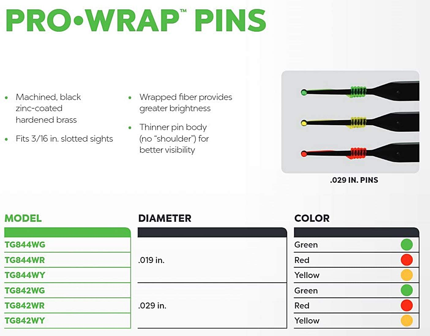 Details about  /Black Gold Pin Replacement .019 Micro Dot Fiber Optic for Bow Sight You choose