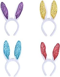 Farbe Set 1 4 St/ück Bunny Ohren Stirnb/änder Kaninchen Haarb/änder Pl/üsch Bunny Stirnband f/ür Ostern Party Cosplay Liefert