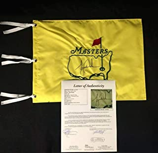 Tiger Woods Signed Autographed Undated Masters Champion Flag - JSA Certified - Autographed Golf Pin Flags