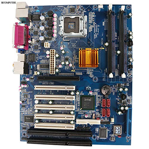 SICOMPUTEK YH-945A6 Motherboard with 2 ISA, 5 PCI, Intel 945GV ICH7 chipsets, Support Socket LGA775 Pentium/Celeron /Dual core CPU up to 3.2 GHz