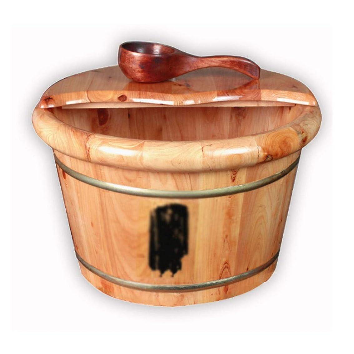 チロ識別する差し控えるマッサージクッション 木製フットバケツ、恒温暖房フットアーティファクト、オークフットバス盆地、小児小タブ (Color : Wood color, Size : 40*26cm)