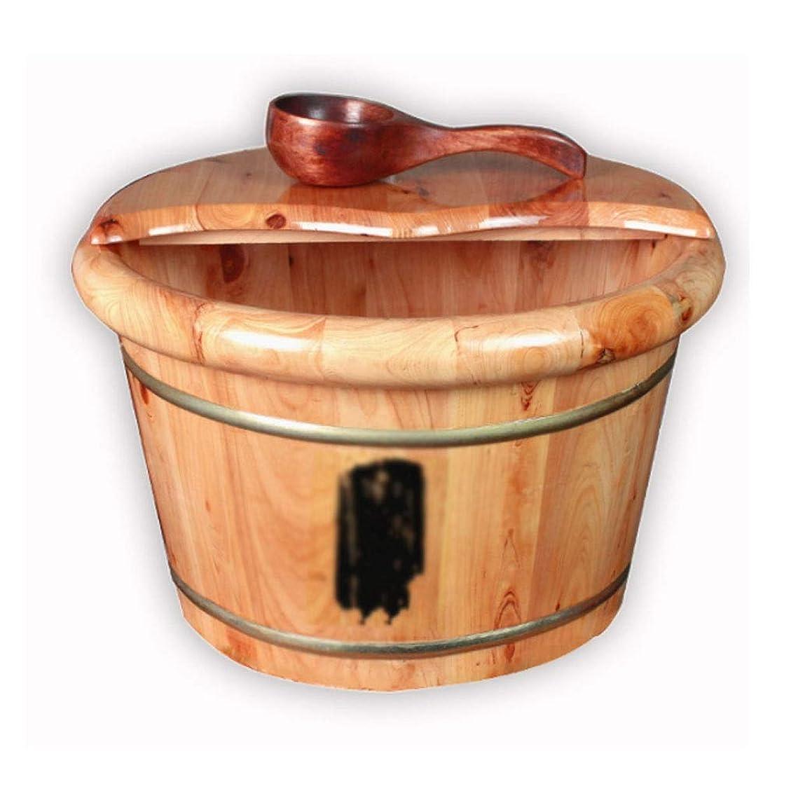 完全に乾くビザ遠洋のマッサージクッション 木製フットバケツ、恒温暖房フットアーティファクト、オークフットバス盆地、小児小タブ (Color : Wood color, Size : 40*26cm)