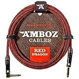 Red Dragon Câble Jack Guitare 6M – Cordon pour Guitare Electrique et Basse – Câble Jack à...