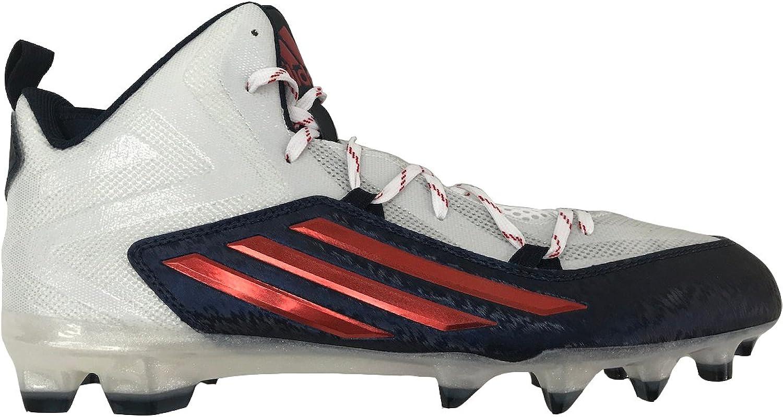 Adidas Performance Mens Crazyquick 2.0 Mid Football Cleat (13 D(M) US, FTWWHT FTWWHT CONAVY)