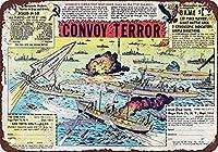 メタルリリーフ1962テロの船団おもちゃの兵士-壁サイン面白い鉄絵ヴィンテージメタルプラーク装飾警告サイン吊るすアートワークポスターバーパーク