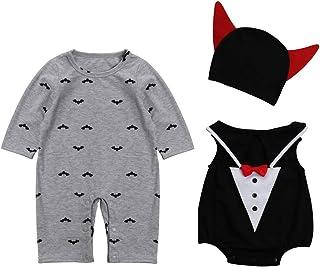 Le SSara Dziecko diabeł wampir Halloween śpioszki noworodka body kostium kostium 3 szt