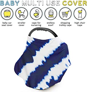 Baby Nursing Cover Breastfeeding Scarf - Cover for Baby Car Seat Canopy, Shopping Cart Cover, Stroller Cover Infant Stroller Cover for Girls and Boys