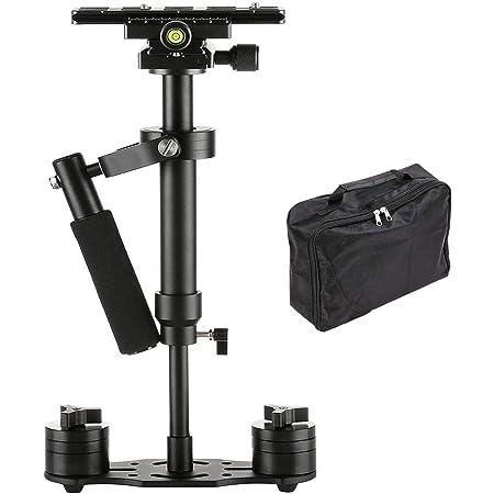 SUTEFOTO S40 Handheld Stabilizer Steadicam Pro Version for Camera Video DV DSLR Nikon Canon, Sony, Panasonic with Quick Release Plate (Black)