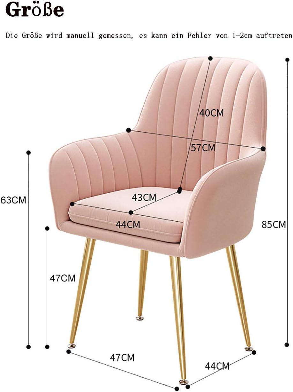 Wyujie Chaise Moderne Et Confortable, Chaise, Fauteuil De Salon Chaise Cuisine Design Scandinave Chaise Rembourrée, Rose,Noir Green