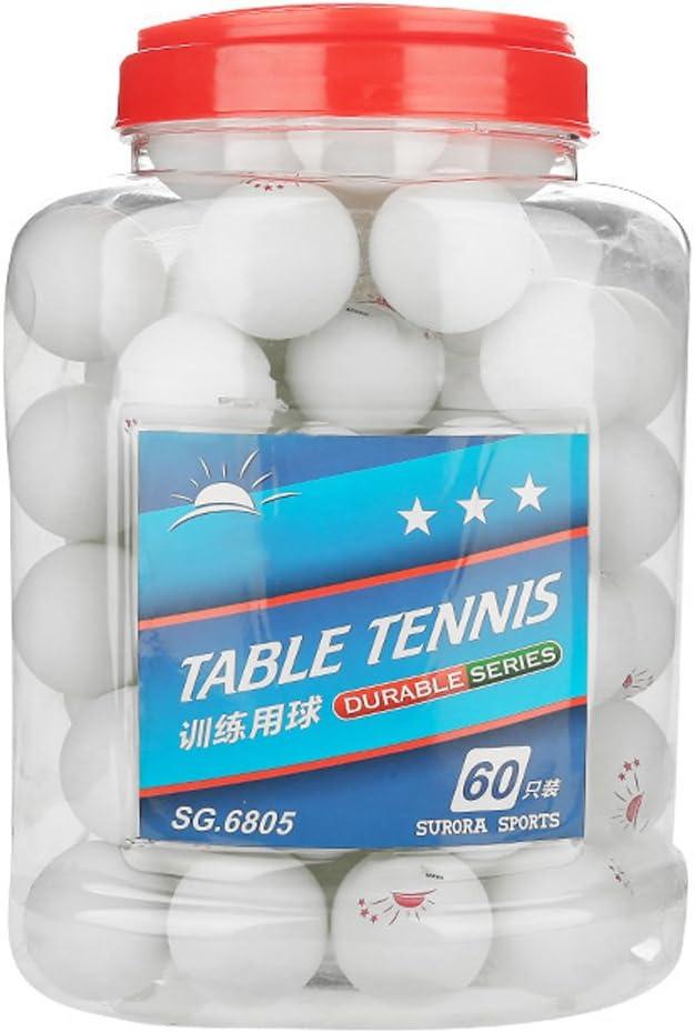 60 pelotas de ping pong 3 estrellas 40+ pelotas de tenis de mesa Regulación estándar de entrenamiento avanzado Ping Pong pelotas para adultos interiores y exteriores