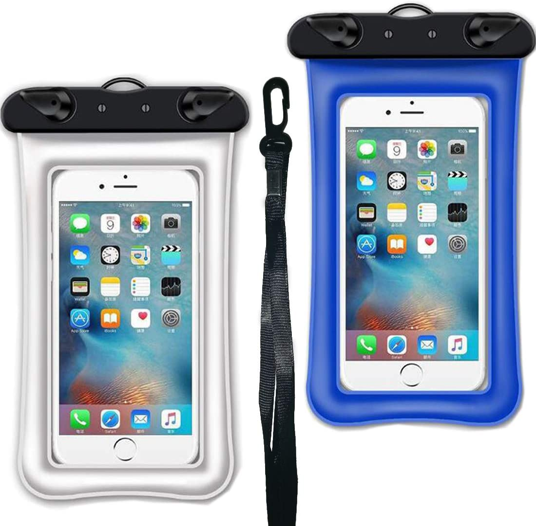 star sound source IPX8 Universal Floating Waterproof Phone Case/Pouch Cellphone Dry Bag for iPhone Xs Max/XR/X/8/8P/7/7P/6S Plus,Galaxy S9/8/+/Note Phone Screen Size up to 6.5