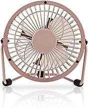 NEDIS Mini Fan USB, 10 cm Metal Desk Fan, Pink