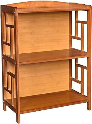 LOVELY Shelf Cremagliera del divisorio della mensola dello scaffale di Esposizione dello scaffale di Esposizione dello scaffale di scaffale di bambù (Dimensione : 2 Tiers)