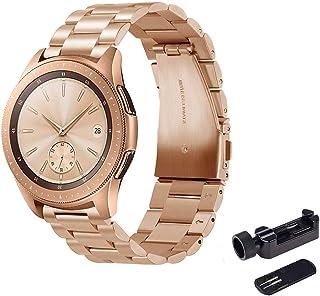 FOOKANN Stainless Steel Metal Watch Band 20mm for Samsung Galaxy Watch 42mm, Samsung Galaxy Watch Active, Samsung Gear S4 ...