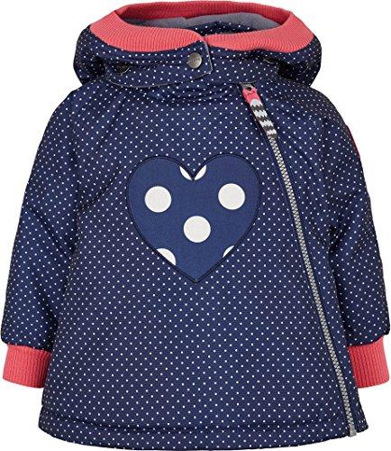 Racoon Baby-Mädchen Svea DOT Winterjacke Wassersäule 9.000 Jacke, Mehrfarbig (Medieval Blue Med), 80