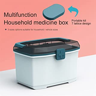 Gift Box Portable Storage Medicine Box Plastic Thickened Double-Layer Medical Box First aid kit Gift Portable Medicine Box...