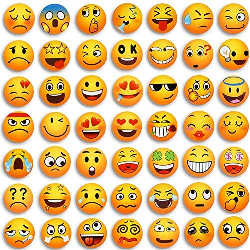MORCART 54 PCS Emoji Imanes Nevera Sonriente Linda Adecuado para la Decoración de Superficies Metálicas y Magnéticas Tales como Refrigeradores de Cocina y Armarios de Pizarras de Oficina