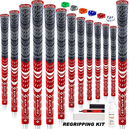SAPLIZE 13 Grips de Golf avec kit de regrippage Complet, Standard/Midsize, Grips de Club de Golf...