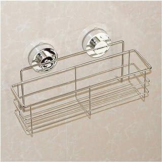 Douche Caddy bain plateau avec Ventouse rectangulaire en inox compact en acier inoxydable Panier de rangement for salle de...