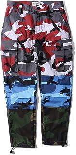 qianqianq Mens Hip Hop Camo Casual Cargo Work Pant Outwear Casual Pant
