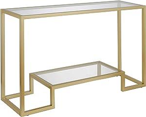 Henn&Hart Geometric Console Table, 1, Gold