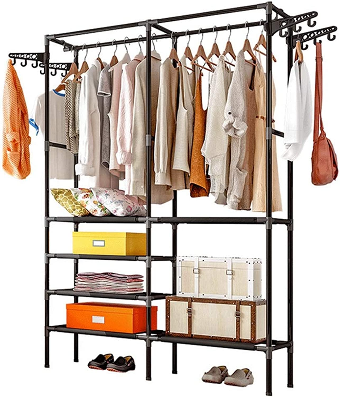 Sxuefang Coat Rack Household Coat Hat Rack Bedroom Simple Modern Economical Assembly Rack Floor Hanger 176x44x86cm