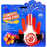 FiestaFive - Confetti High Five Handheld Toy Shooter with 6 Refills (Red/White)