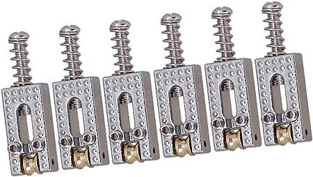 ギターローラーストリング ブリッジサドル ローラーサドル ギターパーツ 全2色 - シルバー