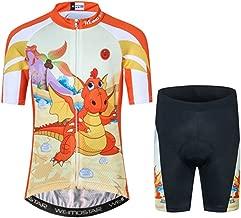Kids Cycling Jersey Short Set Children Bike Gel Padded Bicycle Short Sleeve Jersey Suit