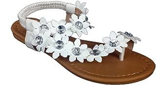 J.J. Elegant Women's Fashion Hawaiian Flowers Gladiator Flat Sandals