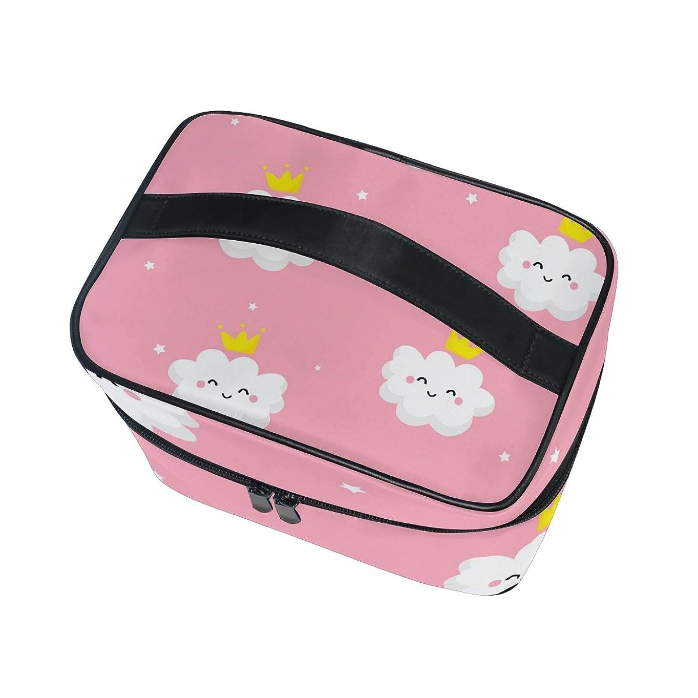 データム原点ボンドALAZA 化粧ポーチ プリンセス 姫系 化粧 メイクボックス 収納用品 ピンク 大きめ かわいい