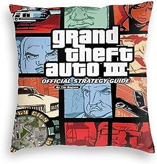 jkhhy Grand-Theft-Auto 3 Motif Velvet Pillowcase Square 8x8 Inches Pillow Cover Sofa Home Decor Home Pillowcase