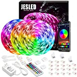 Tiras De LED Para Exterior, JESLED 15M IP65 Impermeable LED Strip Tiras Sincronización de música...