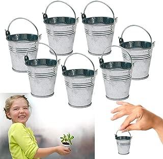 Dazzling Toys 24 Mini Metal Buckets Tin Party Pail Containers Wedding Souvenir