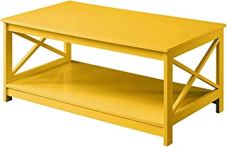 Convenience Concepts Oxford Coffee Table, Yellow