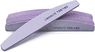 Canvalite 10 PCS Professional Nail Files Double Sided Emery Board(100/180 Grit) Nail Styling Tools for Home and Salon Use
