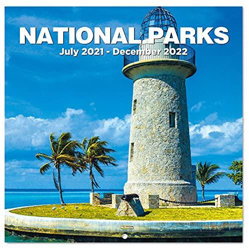 "2021-2022 Wall Calendar - 18 Monthly Wall Calendar 2021-2022, 12"" x 24"" (Open), Wall Calendar with Julian Dates, Thick Paper, Perfect Calendar for Organizing & Planning - National Parks"