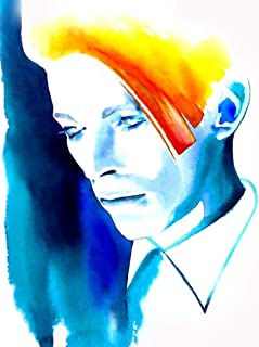 Bowie Golden Years Fine Art Print Watercolor Glam Rock 1980s Icon Gift
