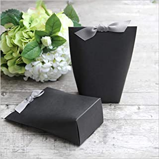 SHHS (8pcs Black) Gift Wrap Boxes Packing Bags, Minimalist Gift Boxes Valentine's Day, Decorative Presents Box Bundle for Packing Clothes Accessories/Tie