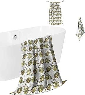 hengshu Artichoke Microfiber Towel Sets for Bathroom Gourmet Garden Luxury Bath Towels Washcloths