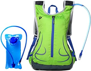 Rjj 20L Outdoor Travel Backpack Bicycle Motorcycle Riding Multi-Function Backpack Large Space Waterproof Wear-Resistant Breathable (with 2L Water Bag) Exquisite (Color : Green)